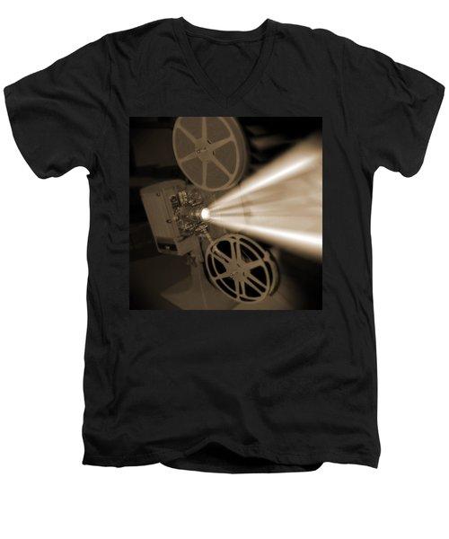 Movie Projector  Men's V-Neck T-Shirt