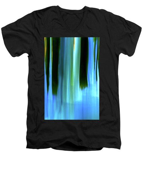 Moving Trees 37-05 Portrait Format Men's V-Neck T-Shirt