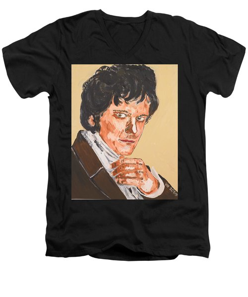 Mr. Darcy Men's V-Neck T-Shirt by Valerie Ornstein