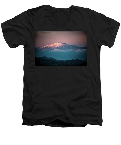 Mt. Etna II Men's V-Neck T-Shirt