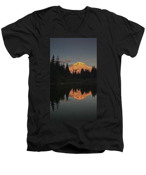 Mt Hood Alpenglow II Men's V-Neck T-Shirt