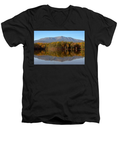 Mt Katahdin Baxter State Park Fall 1 Men's V-Neck T-Shirt