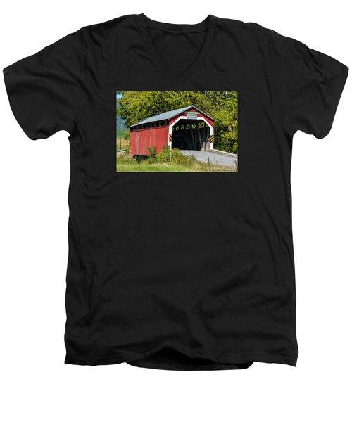 Mt. Pleasant Covered Bridge Men's V-Neck T-Shirt