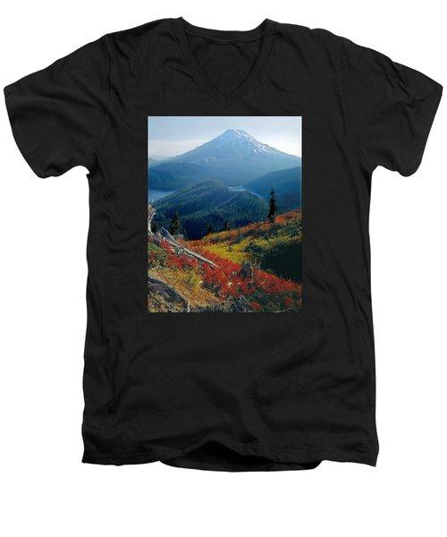1m4903-mt. St. Helens 1975  Men's V-Neck T-Shirt