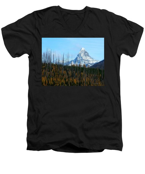 Mt St Nicolas After The Fire Men's V-Neck T-Shirt
