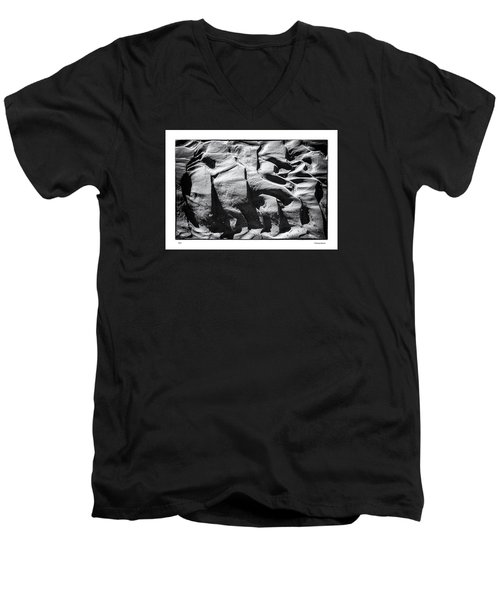 Men's V-Neck T-Shirt featuring the photograph Mud by R Thomas Berner