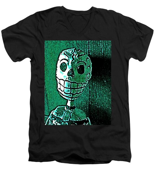 Men's V-Neck T-Shirt featuring the photograph Muertos 4 by Pamela Cooper