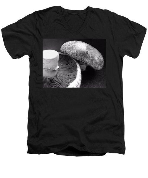 Mushrooms In Black And White Men's V-Neck T-Shirt
