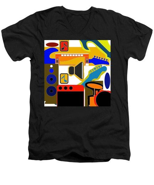 Music Collage Men's V-Neck T-Shirt
