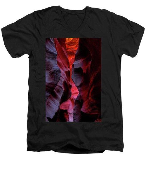 Music, Frozen In The Rocks 5 Men's V-Neck T-Shirt by Alex Galkin