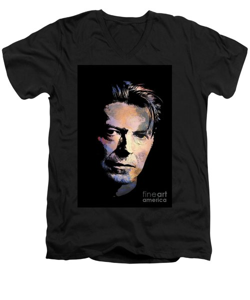 Music Legend 2 Men's V-Neck T-Shirt by Andrzej Szczerski