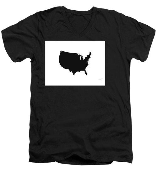 Men's V-Neck T-Shirt featuring the digital art Music Notes 4 by David Bridburg