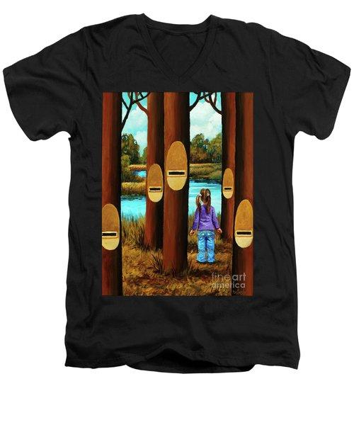Music Of Forest Men's V-Neck T-Shirt