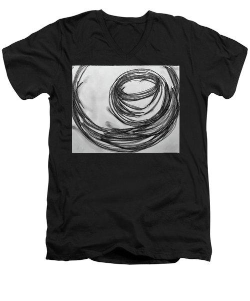 Music Sketch Study Leon Bridges Men's V-Neck T-Shirt by Brenda Pressnall