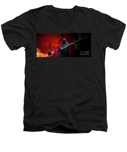 Music To Die For Men's V-Neck T-Shirt