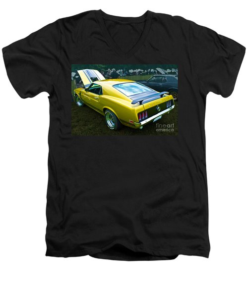 Mustang Boss 302 Men's V-Neck T-Shirt