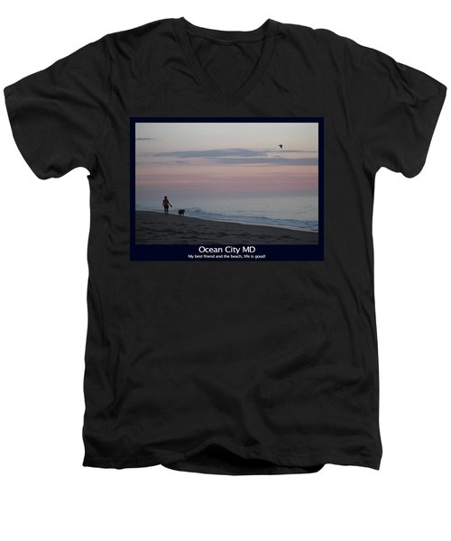 My Best Friend And The Beach Men's V-Neck T-Shirt
