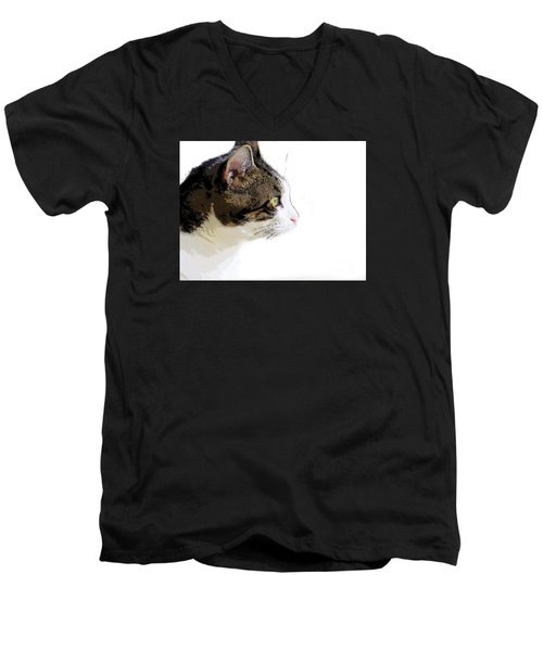 My Cat Men's V-Neck T-Shirt by Craig Walters