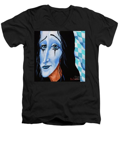 My Dearest Friend Pierrot Men's V-Neck T-Shirt by Igor Postash