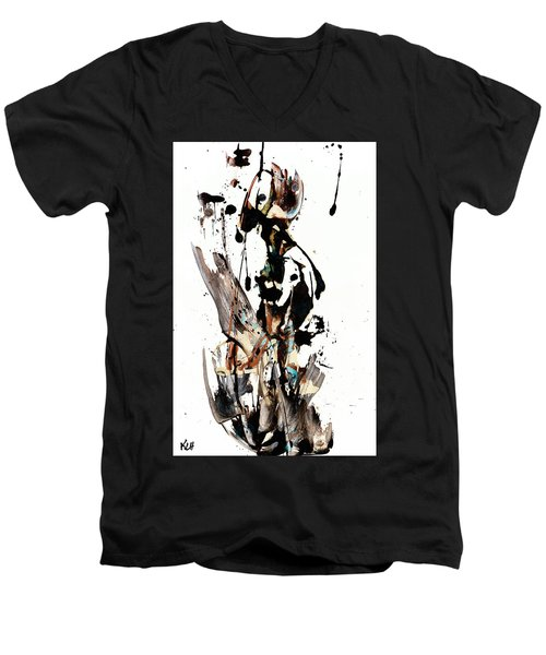 My Form Of Jazz Series 10062.102909 Men's V-Neck T-Shirt by Kris Haas