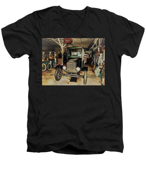 My Garage Too Men's V-Neck T-Shirt