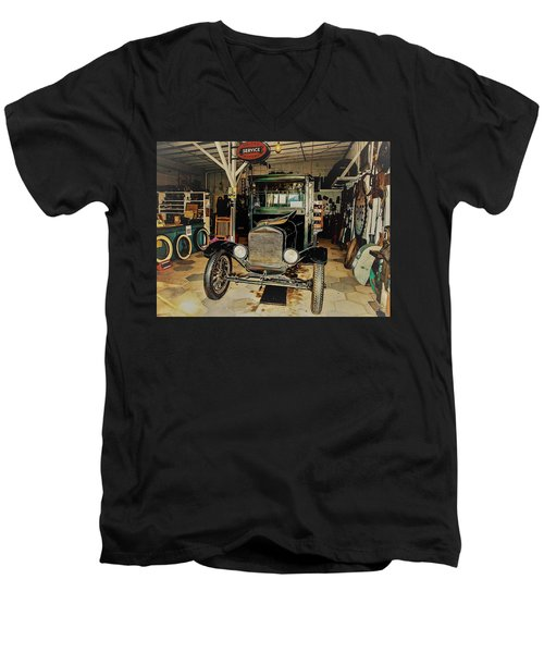 My Garage Too Men's V-Neck T-Shirt