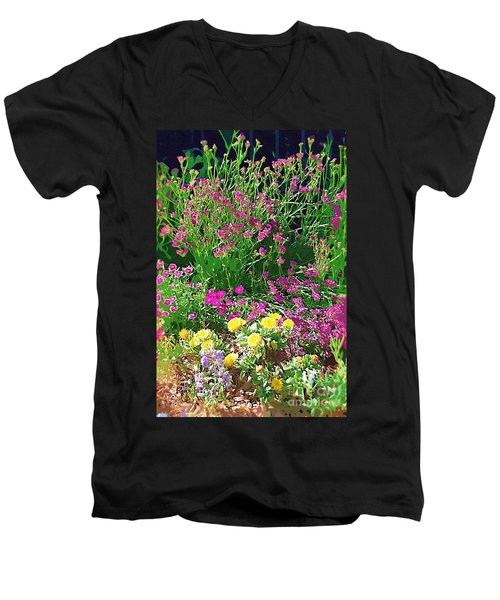 Men's V-Neck T-Shirt featuring the photograph My Garden   by Donna Bentley