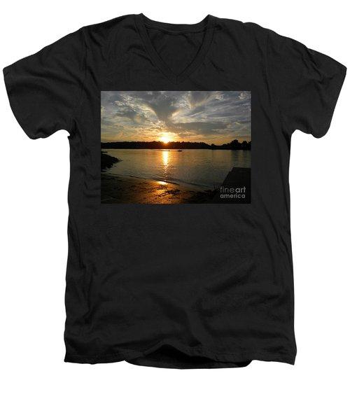 My Hometown Williamstown West Virginia Men's V-Neck T-Shirt