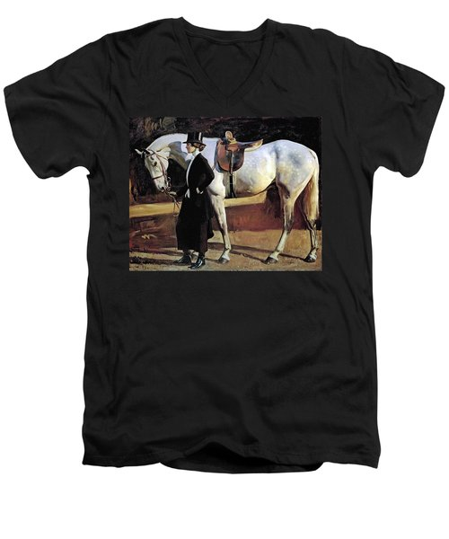 My Horse Is My Friend  Men's V-Neck T-Shirt