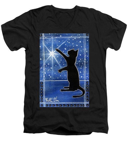 My Shinning Star - Christmas Cat Men's V-Neck T-Shirt