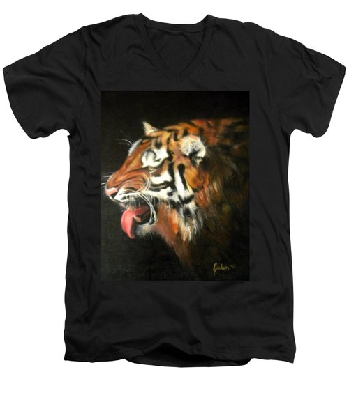 My Tiger - The Year Of The Tiger Men's V-Neck T-Shirt by Jordana Sands