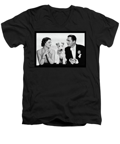 Myrna Loy Asta William Powell Publicity Photo The Thin Man 1936 Men's V-Neck T-Shirt by David Lee Guss