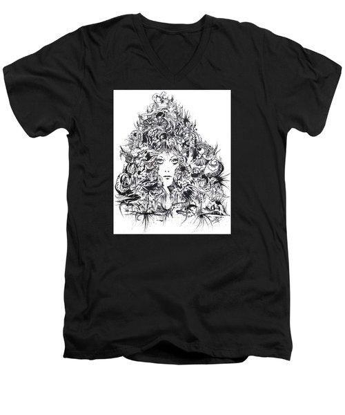 Mystic Men's V-Neck T-Shirt