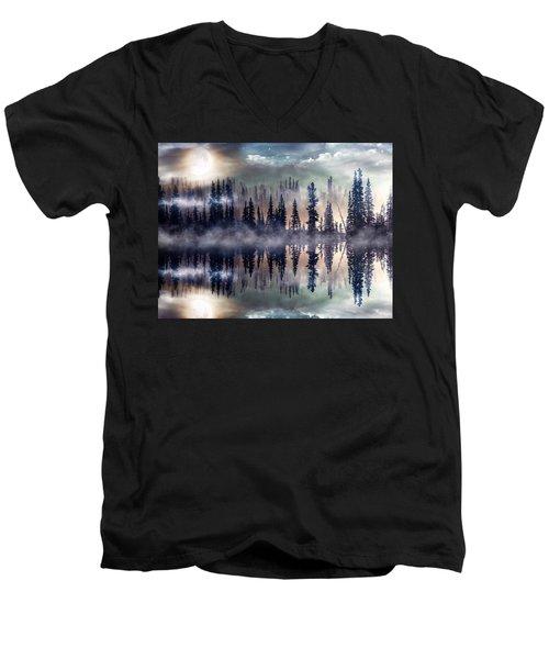 Mystic Lake Men's V-Neck T-Shirt