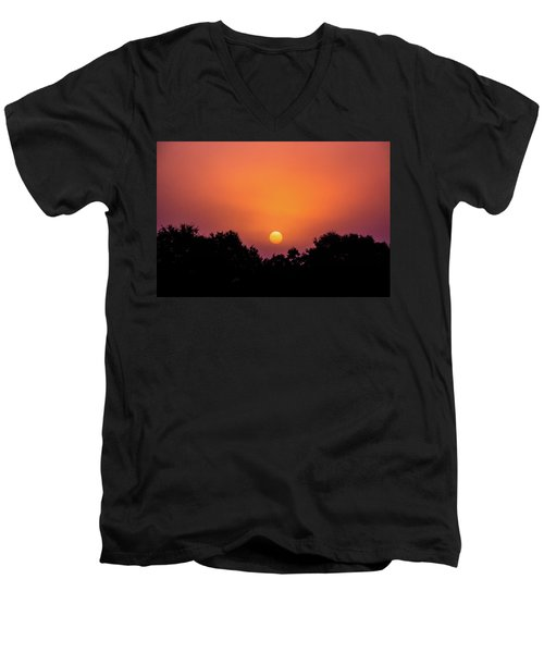 Men's V-Neck T-Shirt featuring the photograph Mystical And Dramatic by Shelby Young