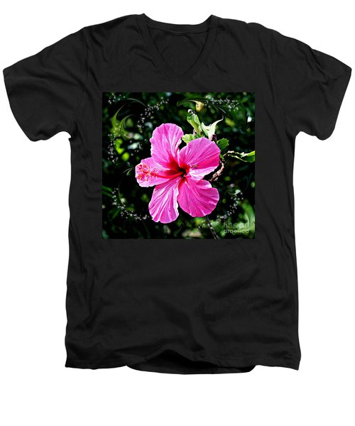 Men's V-Neck T-Shirt featuring the photograph Mystical Bloom by The Art of Alice Terrill