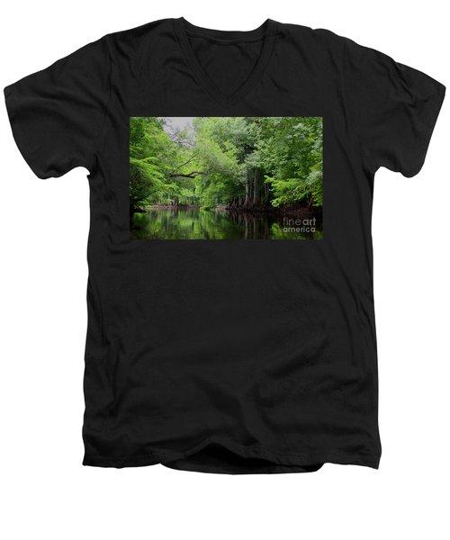 Mystical Withlacoochee River Men's V-Neck T-Shirt