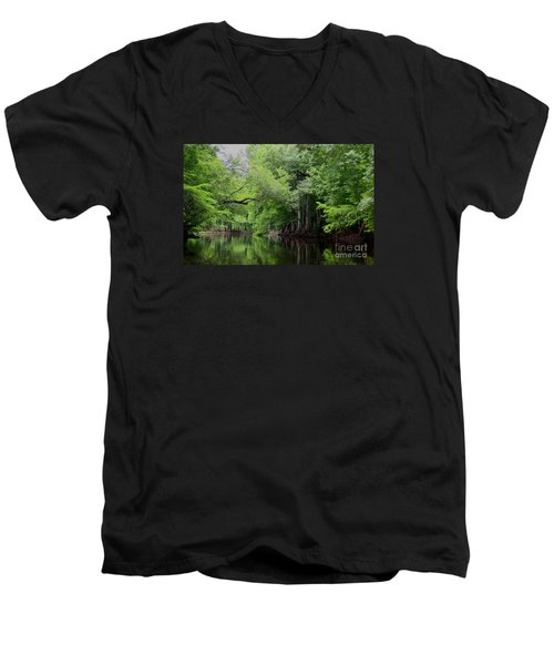 Mystical Withlacoochee River Men's V-Neck T-Shirt