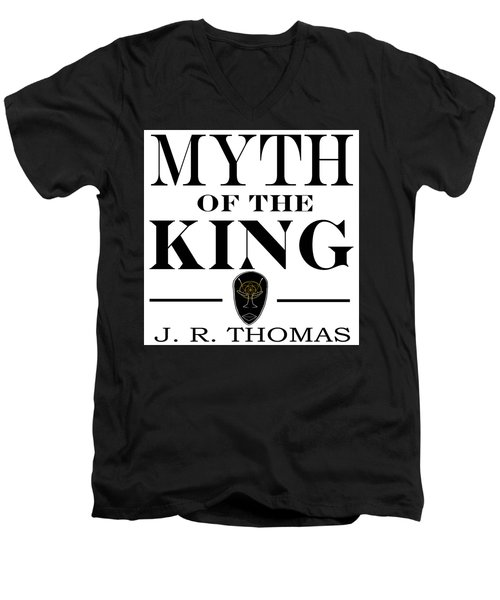 Men's V-Neck T-Shirt featuring the digital art Myth Of The King Cover by Jayvon Thomas