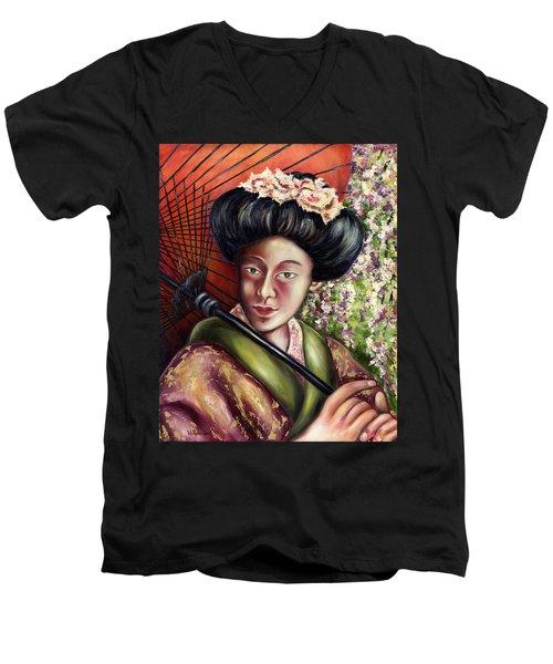 Nadeshiko Men's V-Neck T-Shirt