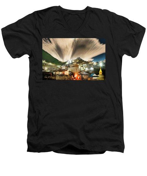 Namche Night Men's V-Neck T-Shirt