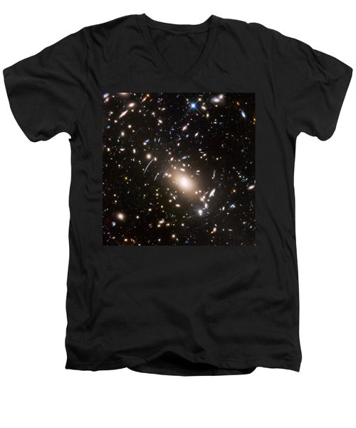 Men's V-Neck T-Shirt featuring the photograph Nasa's Hubble Looks To The Final Frontier by Nasa