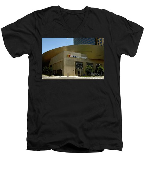 Nascar Hall Of Fame Men's V-Neck T-Shirt