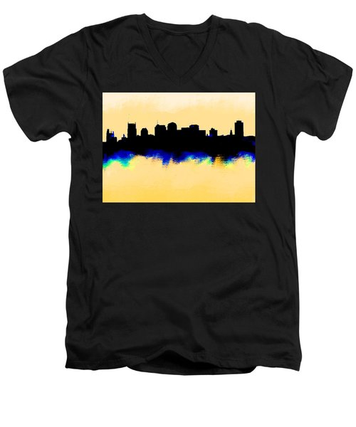 Nashville  Skyline  Men's V-Neck T-Shirt