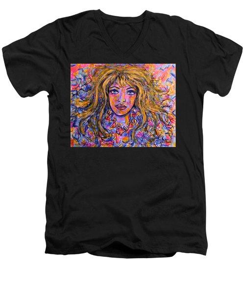 Natalia Men's V-Neck T-Shirt
