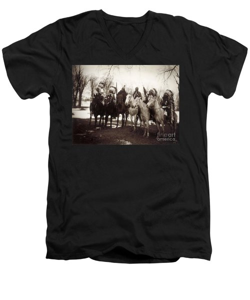 Native American Chiefs Men's V-Neck T-Shirt