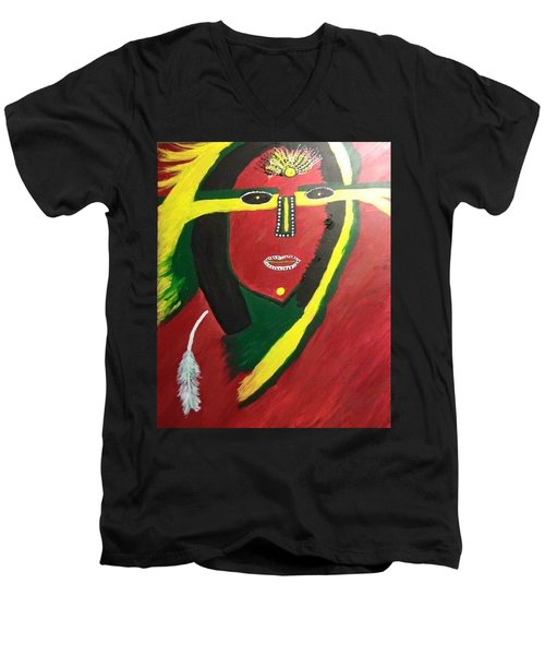 native Queen  Men's V-Neck T-Shirt