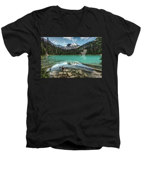Men's V-Neck T-Shirt featuring the photograph Natural Beauty Of British Columbia by Pierre Leclerc Photography