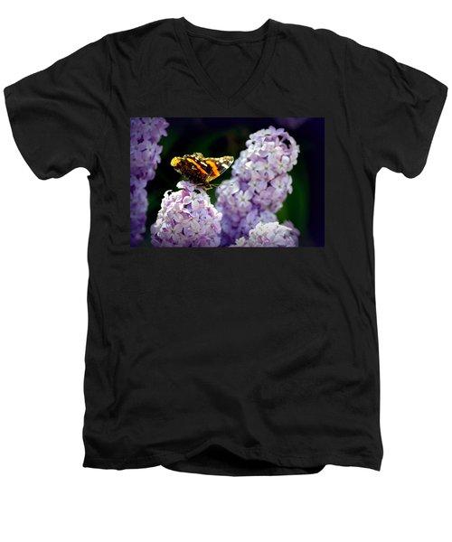 Nature's Beauty Men's V-Neck T-Shirt by Clarice  Lakota
