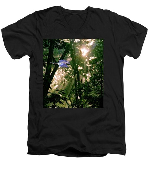 Men's V-Neck T-Shirt featuring the photograph Nature's Cathedral by Marie Hicks